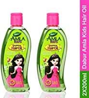 Dabur Amla Kids Nourishing Hair Oil | No Paraben & No Paraffin - 200ml (Pack of 2)
