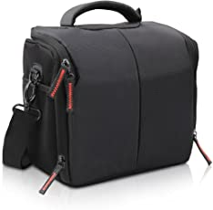 Techzere® FOSOTO Camera Case Bag for Nikon Canon Sony Digital SLR Camera with Waterproof Shield Cover