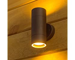 Outdoor Wall Light Wall Sconce IP54 Waterproof Modern UP&Down Wall Lamp Grey Stainless Steel Aluminum Alloy Cylinder Design f