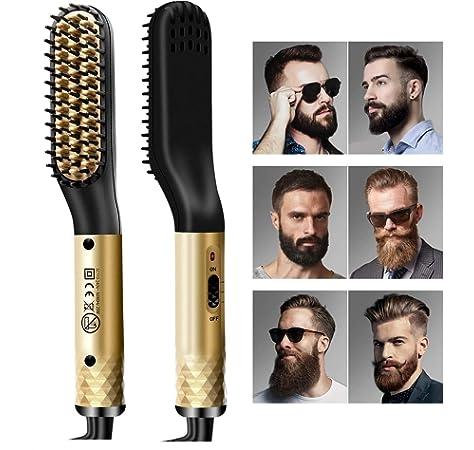 Beard Straightener Brush, Men's Electric Quick Hair