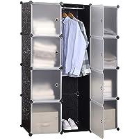 WOLTU SR0103stp DIY Armoire Plastique Chambre Faite de modules avec Porte pour Le Stockage de vêtements, Accessoires…