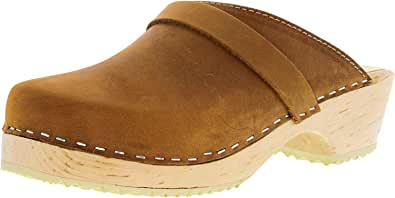 Lotta From Stockholm Swedish Clogs : Classic Clog in Brown Oiled Nubuck Leather