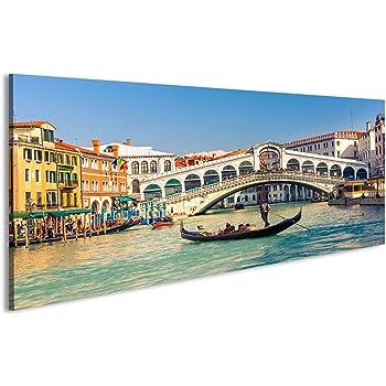 Venedig V2 1p Bild auf Leinwand Bilder Kunstdruck Wandbild Poster