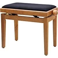Classic Cantabile Pianobank Buche-matt (Höhenverstellbar von 47-56cm, Spindelmechanik, Sitzfläche 55 x 32cm, schwarzer…