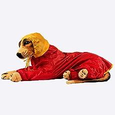 PETRIOT Pet's Waterproof Taffeta 4 Legged Rain Coat, Extra-Extra Large (Red, DR007XXL)