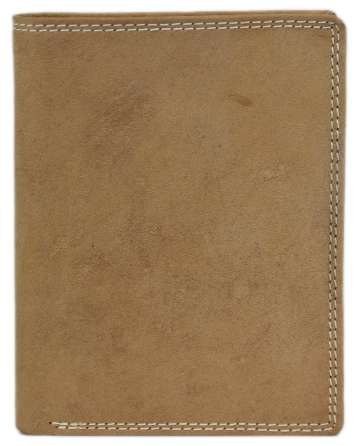Solo Pelle Vintage Portafoglio in Pelle di bufalo oliato e con doppia cucitura Model: 0110