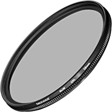 Neewer 58MM Ultra Slim CPL Filter Circular Polarizer Lens Filter for Canon Eos Rebel T6i T6 T5i T5 T4i T3i SL1 DSLR Camera, Made of HD Optical Glass and Aluminum Alloy Frame