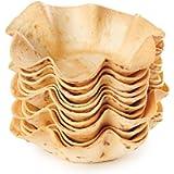 Unica Il Cestino di Pane, piatti di pane commestibili, Cestino Mignon, 15 cm diametro, 18 cestini