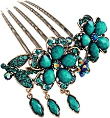 Voberry New Lovely Fashion Purple Flower Jewelry Crystal Hair Clip Hairpin 1 Pcs