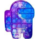 Push - Pop Bubble Sensory Fidget Toy, pincez Sensorielle Jouet Pousser Pop Bubble, Fidget Toy Pop It Among Us, Fidget Toy Pus