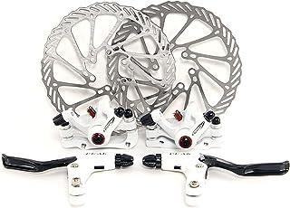 Yorbay Fahrrad Bremsenscheiben 160mm Scheiben und vorne hinten Bremse mit BB5 Bremsbeläge und Kabel