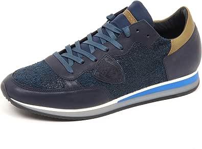 Philippe Model E4656 Sneaker Uomo Blu/Green Tropez Scarpe Shoe Man