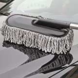 Lukzer 1PC Microfiber Car Cleaner Washable Telescopic Duster Brush with Grip Expandable Handle for Home & Kitchen Office Clea