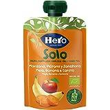 Hero Baby Solo Bolsita de Manzana, Plátano y Zanahoria Puré de Frutas Ecológico para Llevar para Bebés a partir de 4 meses, 1