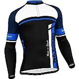 FDX–Camiseta de Ciclismo para Hombre (Manga Larga, Térmica y Ideal para el Invierno