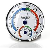 Doppelzweck-Testgeräte mit Temperatur Messgerät und Feuchtigkeit Messgerät Thermometer Hygrometer Analoges Kombigerät für Innen Außen Thermohygrometer Wetterstation Zuhause Gästehaus