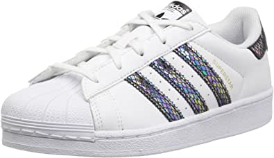 Adidas Originals Superstar Baskets serpent métallisées Blanc/blanc ...