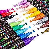 Marqueur Peinture Acrylique, Emooqi 18 couleurs Peinture Acryliques Stylos Marqueur Peinture Permanent Art Peinture Set…