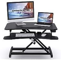 ABOX Sit-Stand Workstation, Höhenverstellbarer Schreibtisch-Aufsatz Computertisch mit automatischem elektrischem Knopf…