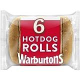 Warburtons 6 Sliced Hot Dog Rolls