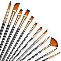 ABClife Pinceaux, Chaque Paquet De 12 Pinceaux Et Pinceaux Professionnels Acrylique, Aquarelle, Peinture, Poils De Nylon…