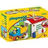 PLAYMOBIL 1.2.3 Camión+garaje, color carbón (70184) , color/modelo surtido