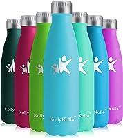 KollyKolla Botella de Agua Acero Inoxidable - 350ml/500ml/650ml/750ml, Termo Sin BPA Ecológica, Botellas Termica...
