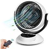 Ventilateur Silencieux, Min 25dB, Ventilateur de Table et Puissant, Circulation d'air pour Toute la Chambre, Écran Tactile LC