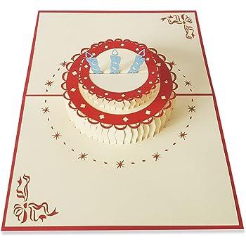 Birthday Pop Up Card 3d Handmade Gift Happy Birthday Cake Greeting