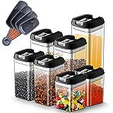 Myguru Boîte Rangement pour Aliment avec Couvercle Récipients Hermétiques à Nourriture Ensembles Boîtes sans BPA pour Grains,