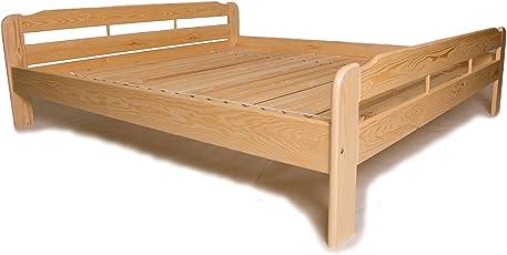 Einzelbett mit Lattenrost aus Kiefer massiv ✓ Leichter Aufbau ✓ Robuste Bauweise ✓ Massives Holz-Bett | Bettgestell optional mit Schubladen | Kieferbett, Naturholzbett aus Familienbetrieb