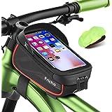 Borsa Bici Regalo Uomo con Supporto per Telefono, Borse Bici regalo festa del papà Impermeabili per Telaio Borsa da Biciclett