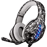 PS4 Cuffie, Moimhear Cuffie Da Gioco, Xbox One Cuffie Gaming Super Confortevole Stereo Bass Noise Cancelling Headset Auricola
