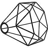 Motent vintage industriel en métal Noir diamant Cage Abat-jour Lustre 20,8 cm de diamètre plafond Pendentif à suspendre Lot d