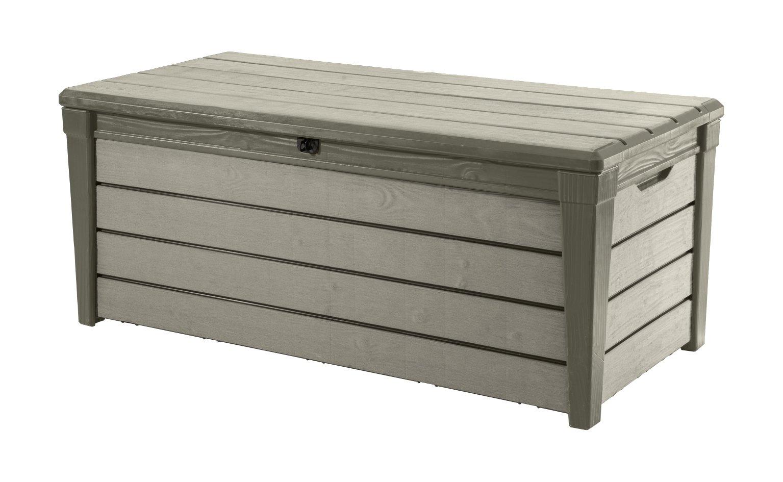 Keter Auflagen- und Universal Brushwood Box, 455 L, taupe / beige