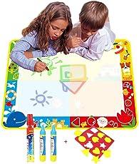 Grande Doodle Tappeto Magico da disegno 100*70CM,TQP-CK Doodle Del Tappetino Magico ad da Disegno con Confezione da 3 Pennarelli
