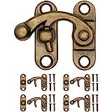 FUXXER® - 4x antieke sluitingen, rasterhaken, meubelbeslag, brons ijzeren design, voor schuivers kisten, wijnkratten in vinta
