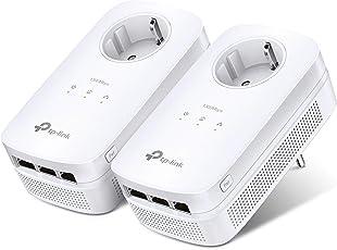TP-Link TL-PA8030P-KIT Powerline Netzwerkadapter Set (1300Mbit/s über Powerline, Steckdose, 6 Gigabit Port, energiesparend, kompatibel zu allen gängigen Powerline Adaptern, Plug und Play) weiß