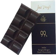 Jus' Trufs Artisanal 99% Dark Chocolate Set Of 2, 40 Grams