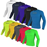 Didoo Base Layer Long Sleeve Mens Compression Full Sleeve Top Running Shirts Breathable Quick Dry Training Fitness…