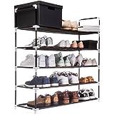 GOODS+GADGETS Étagère à Chaussures XXL 91 x 88 x 30 cm étagère à Chaussures avec 5 étagères pour 25 Paires de Chaussures comm
