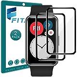 FITA 2-pack skärmskydd kompatibelt med Huawei Watch Fit/Honor Watch ES, [Full täckning] [Hög känslighet] [Repfri] 3D-skärmsky