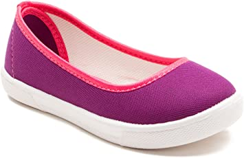 Omaiden The First Step Kids Canvas Ballet Flats