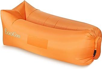 EooCoo Portable aufblasbare Sofa, Outdoor Air Sofa für Camping, Park, Strand, Hinterhof, Angeln, Schwimmen