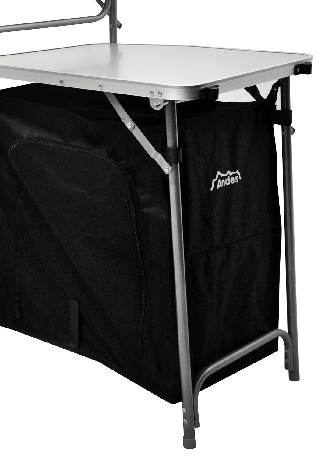 Andes Camping Field Kitchen Worktop Table Stand With Cupboard 2