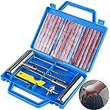 Faburo 22PCS Kit de Réparation de Pneu, Kit de Reparation avec Gants Jetables, Tubeless Roue De Pneu Crevaison Outil De Recti