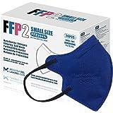 20 FFP2/KN95 Maske Blau CE Zertifiziert Kleine Größe Small, Medizinische Mask mit 4 Lagige Masken ohne Ventil, Staub- und Par