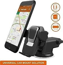 E-Global Shop Premium 360 Adjustable 3-in-1 Car Mount Holder for All Smartphones