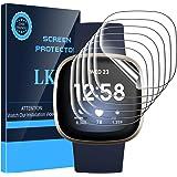 LK Compatible avec Fitbit Versa 3/Fitbit Sense Protection Écran,6 Pièces,TPU Film Protection Écran,HD Clair Doux Transparent