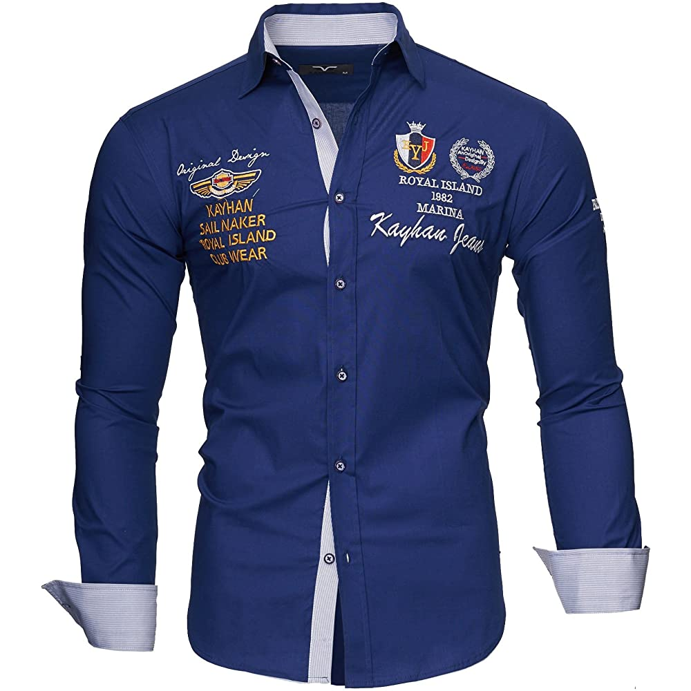 Kayhan,originale camicia per uomo,maniche lunghe,97% cotone, 3% elastan A-TwoFace-0000100